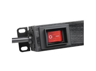 """Adam Hall 19"""" Parts 87471 USB - 8-fach 19"""" Steckdosenleiste mit Schalter und 2 USB-Ladebuchsen"""