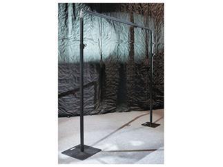 Showtec Telescopic drape support,180-300cm,schwarz für Pipe and Drapes