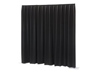 Showtec P&D curtain - Dimout - Gefaltet, 300 (B) x 300 (H) cm, 260 g/m2, schwarz