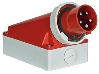 Showtec CEE Form 125A 5 Pin Wallmount Male IP67