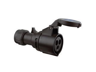 CEE 16A 240V 3p 6h männlich, schwarz Twist IP44