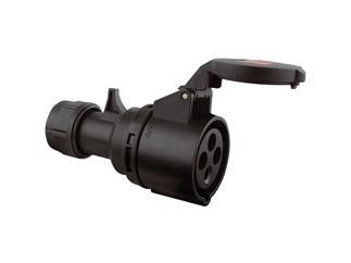 CEE 16A 380V 4p 6h weiblich, schwarz Twist IP44