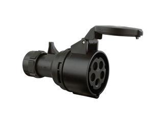 CEE 16A 380V 5p 6h weiblich, schwarz Turbo twist IP44