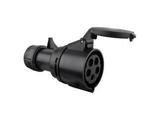 CEE 32A 380V 5p 6h weiblich, schwarz Turbo twist IP44