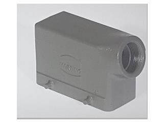 Harting HB-16 Ts PG21, Tüllengehäuse, seitlich niedere Bauform, ohne Bügel, ohne Gummilippe