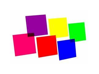 Farbfolienset 24x24cm, sechs Farben