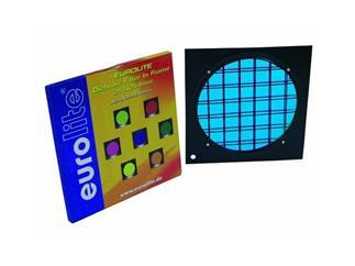 Dichro-Filter blau Rahmen schwarz PAR-64