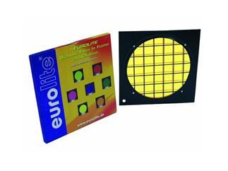 Dichro-Filter gelb Rahmen schwarz PAR-64