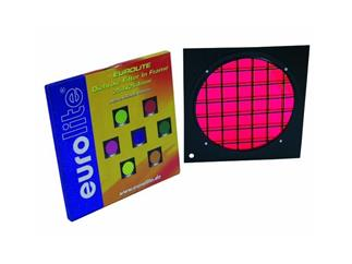 Dichro-Filter rot Rahmen schwarz PAR-64