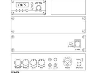 MONACOR TXA-800 - Transportables Verstärkersystem