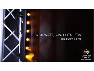 ADJ Ultra HEX Bar 6 x 10W LED Leiste RGBWA+UV