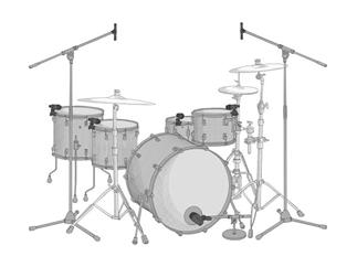 AKG Drum Set Session I - 4x P4 inkl. Halterung + 1x P2 + 2x P17 + Alukoffer