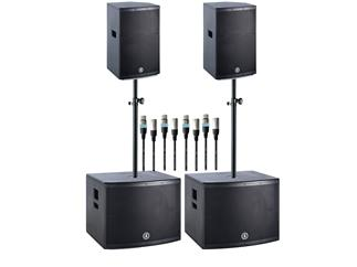 ANT Audio Greenhead 2x 18S Subwoofer + 2x 12 Topteile + Distanzstangen + Kabel