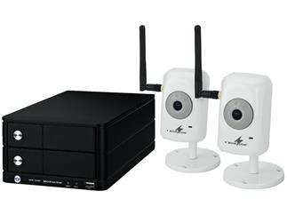 MONACOR NVR-104SET WLAN Netzkamera-Set mit NVR