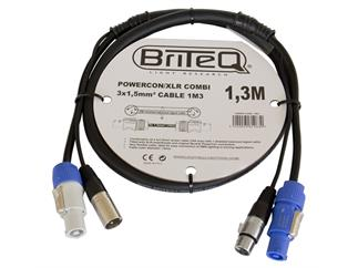 LIGHT BriteQ - Powercon/XLR PRO Combi Cable 1,3m