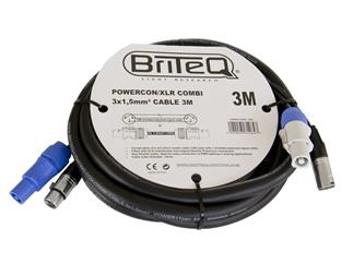 LIGHT BriteQ - Powercon/XLR PRO Combi Cable 3m, DMX