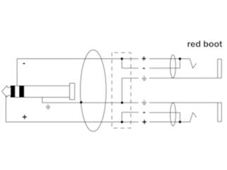 Cordial Y-Kabel 0,3m Klinke 6,3mm Stereo Stecker / 2x Klinke 6,3mm Mono Buchse