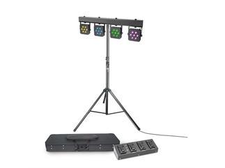 Cameo Multi PAR 2 SET 28x3W RGB LED + Case + Fußschalter + Stativ