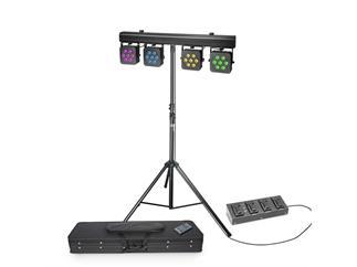 Cameo Multi PAR 3 SET 28x8W RGBW LED + Case + Fußschalter + Fernbedienung + Stativ