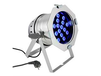 Cameo PAR 64 CAN - 18 x 3 W RGB LED silber