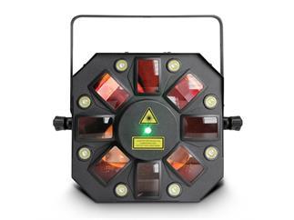 Cameo Storm - 3in1 Lichteffekt, 5x3W RGBAW Derby, Strobe, Grating Laser