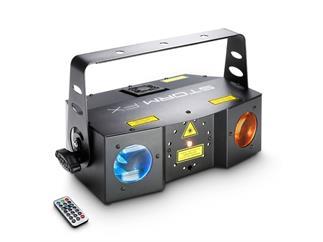 Cameo Storm FX- 3in1 Lichteffekt, 6x3W RGBWA Derby, Strobe, Grating Laser