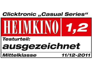 Clicktronic Casual Videokabel (Cinch-Stecker/Cinch-Stecker), 75 Ohm, 1,0m