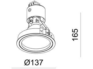 Kapego Deckeneinbauleuchte Epart Einsatz G12