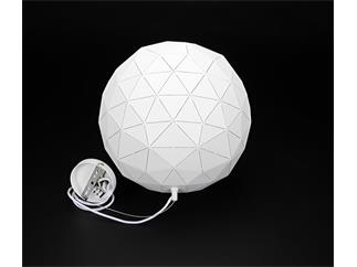 Deko Light Pendelleuchte Asterope rund 400 weiß