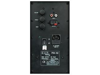 DAP PRA-82 2 Weg Boxen Set, 125W mit Endstufe, schwarz, 1 Paar
