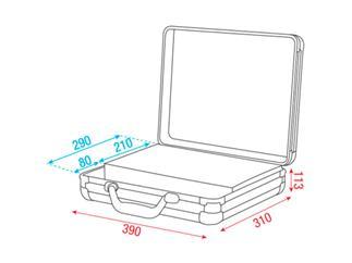 DAP Flightcase Microphone Case für 7 mic´s Silber