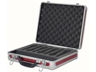 DAP Flightcase Microphone Case für 7 Mikrofone, rot