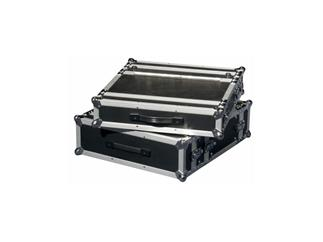 "Flightcase 19"" for Double CD Player 3U/ 3HE Schwarz"