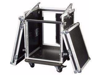 "Flightcase 19"" Rack 10HE, mit Toploading"