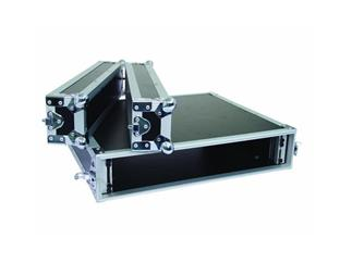 "19"" Rack - Flightcase 2 HE, Double Door"
