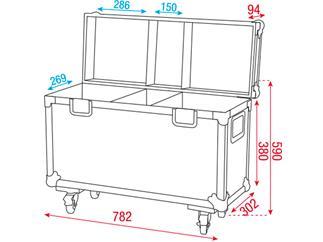 Flightcase für 2 Stück Phantom 25/50/65