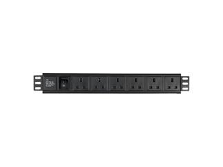 "DAP 19"" 6 way socketbox BS-613 (UK) socket"
