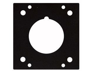 CEE 3 Pin 16 Amp Panel, 45,5 mm, 2 Segments