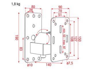 DAP-Audio kompakte Lautsprecher Wandhalterung