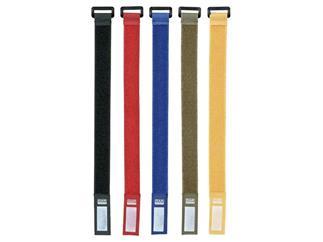 DAP-Audio Klett Kabelbinder rot, 10 Stück Packung, 36 x 2,5 cm