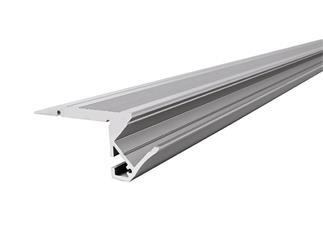 Reprofil Treppenstufen-Profil AL-01-10 für 10 - 11,3 mm LED Stripes, Silber-matt, eloxiert, 1000 mm