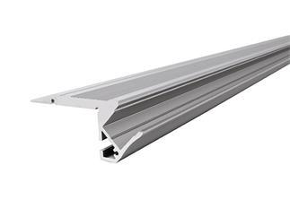 Reprofil Treppenstufen-Profil AL-01-10 für 10 - 11,3 mm LED Stripes, Silber-matt, eloxiert, 3000 mm