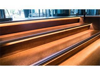 Reprofil Treppenstufen-Profil AL-02-10 für 10 - 11,3 mm LED Stripes, Silber-matt, eloxiert, 2000 mm