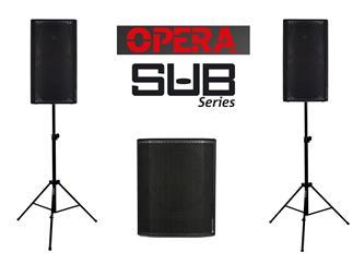 dB Technologies 2x Opera 12 + 1x Sub 618 + Stative