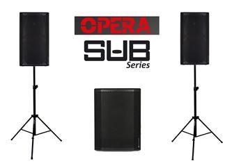 dB Technologies 2x Opera 12 + 1x Sub 615 + Stative
