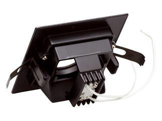 Einbaudownlight DL-75 schwenkbar für MR-16 Farbe: schwarz