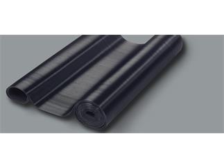Defender 85970 - Gummi-Feinriefenmatte schwarz 0,7 m x 10 m, Kabelmatte