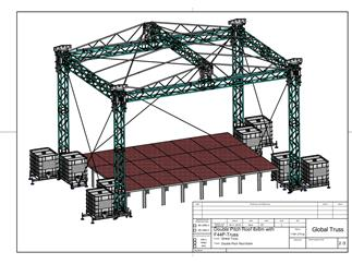 Global Truss DOUBLE PITCH ROOF 10x8 / 8x6 meter, Bühnendach, Satteldach