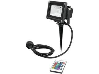 EUROLITE LED IP FL-10 COB RGB FB + Spieß Outdoor IP65
