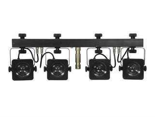 EUROLITE LED KLS-10 Kompakt-Lichtset DMX, 4x 7Watt COB LED weiss, CREE, 8500K